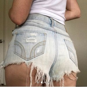 Cheeky distressed shorts